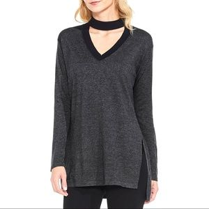 Vince Camuto textured knit choker sweater